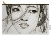 Asian Girl Carry-all Pouch by Jani Freimann