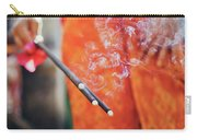 Asian Woman Holding Incense Sticks During Hindu Ceremony In Bali, Indonesia Carry-all Pouch