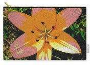 Asiatic Lily With Sandstone Texture Carry-all Pouch