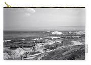 Asilomar Beach Stairway In Black And White Carry-all Pouch