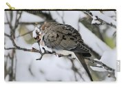 Asleep In The Snow - Mourning Dove Portrait Carry-all Pouch