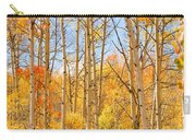 Aspen Fall Foliage Vertical Image Carry-all Pouch