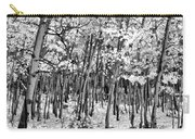 Aspen In Snow Black And White Carry-all Pouch