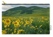 Aspen Sunflower And Mountain Landscape Carry-all Pouch
