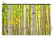 Aspen Tree Forest Autumn Time Portrait Carry-all Pouch