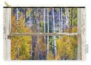 Aspen Tree Magic Cottonwood Pass White Farm House Window Art Carry-all Pouch