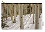 Aspens In Winter 2 Panorama - Santa Fe National Forest New Mexico Carry-all Pouch