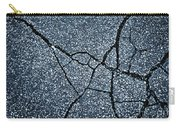 Asphalt Pavement With Cracks On The Surface Carry-all Pouch