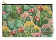 Assorted Blooming Cactus Plants Carry-all Pouch