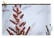 Astilbe Aglow In The Snow Carry-all Pouch