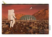 Astronaut Walking Across The Surface Carry-all Pouch