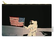 Astronaut With Us Flag On Moon Carry-all Pouch