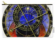 Astronomical Clock In Grunge Style Carry-all Pouch