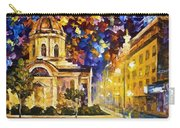 Asuncion Paraguay - Palette Knife Oil Painting On Canvas By Leonid Afremov Carry-all Pouch
