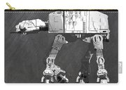 At At Walker From Star Wars Vintage Recycled License Plate Scrap Metal Art Carry-all Pouch
