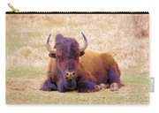 A Buffalo Staring Carry-all Pouch