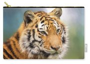 At The Center - Tiger Art Carry-all Pouch