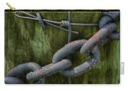 At The Fence Gate - Chain, Wire, And Post Carry-all Pouch
