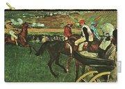 At The Races, Digitally Enhanced, Edgar Degas, Digitally Enhanced Maximum Resolution Carry-all Pouch