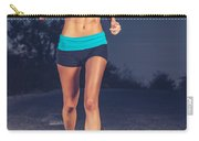 Athletic Woman Jogging Outdoors Carry-all Pouch