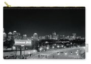 Atlanta Black And White Panorama Carry-all Pouch