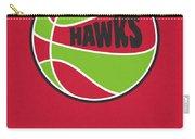 Atlanta Hawks Vintage Basketball Art Carry-all Pouch