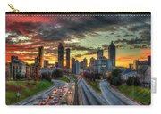 Atlanta Nite Lights Atlanta Downtown Cityscape Art Carry-all Pouch