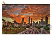 Atlanta Orange Clouds Sunset Capital Of The South Carry-all Pouch