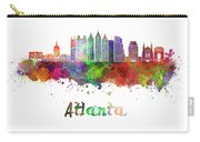 Atlanta V2 Skyline In Watercolor Carry-all Pouch