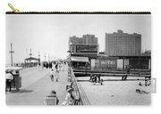 Atlantic City 1920 Boardwalk Promenade, Beach Sand, Signs Apollo Theatre, Mitzi  Carry-all Pouch