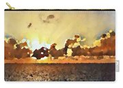Atlantic Ocean Sunset In Oil  Carry-all Pouch