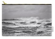 Atlantic Storm In Black And White Carry-all Pouch
