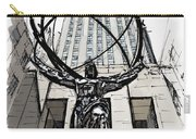 Atlas Sculpture Sketch In New York City Carry-all Pouch