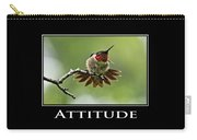 Attitude Inspirational Motivational Poster Art Carry-all Pouch