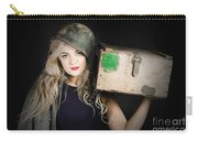 Attractive Pinup Girl. Blond Bombshell Carry-all Pouch