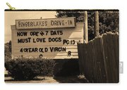 Auburn, Ny - Drive-in Theater Sepia Carry-all Pouch