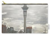 Auckland New Zealand Sky Tower Textured Carry-all Pouch
