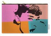 Audrey Hepburn Pop Art 2 Carry-all Pouch