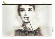 Audrey Hepburn Portrait 01 Carry-all Pouch