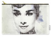 Audrey Hepburn Portrait 02 Carry-all Pouch