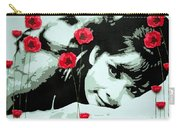 Audrey In Poppies Carry-all Pouch