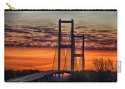 Audubon Bridge Sunrise Carry-all Pouch