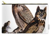 Audubon: Owl, (1827-1838) Carry-all Pouch