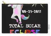 August 21 Solar Total Eclipse Funny Dabbing Unicorn Carry-all Pouch