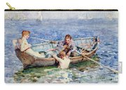 August Blue Carry-all Pouch by Henry Scott Tuke