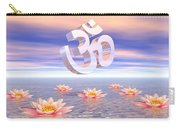 Aum - Om Upon Waterlilies - 3d Render Carry-all Pouch