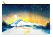 Mount Hood's Starry Crown Carry-all Pouch