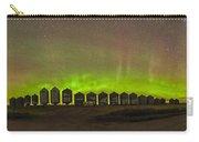 Aurora Borealis Behind Grain Bins Carry-all Pouch