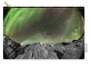 Aurora Borealis Over Iceland, Fisheye Carry-all Pouch