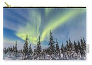 Aurora Borealis Over The Trees Carry-all Pouch
